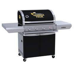 Georgia Tech Yellow Jackets Team Grill Patio Series MVP Gas Grill