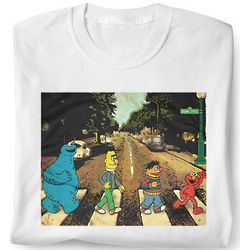 Sesame Street Abbey Road Adult T-Shirt