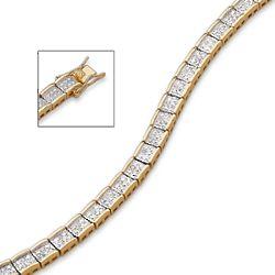 Diamond Two-Tone Glamour Tennis Bracelet