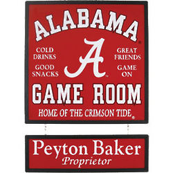 Personalized Collegiate Wood Sign