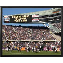 Personalized Chicago Bears Scoreboard 11x14 Canvas