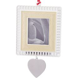 Engraved Personalized Lace Photo Frame/Ornament