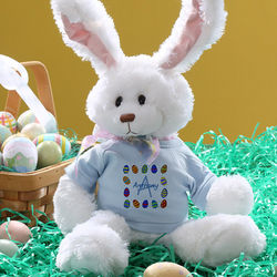 Personalized Blue Stuffed Easter Bunny
