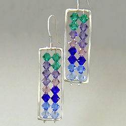 Crystal Abacus Earrings