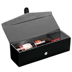 Personalized Folding Leather Wine Bottle Box