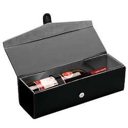 Personalized Folding Leather Wine Bottle Box