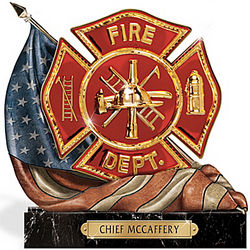 The Symbol of Courage Fireman's Personalized Sculpture