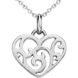 Heart Pendant in Sterling Silver