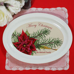 Personalized Ceramic Christmas Platter
