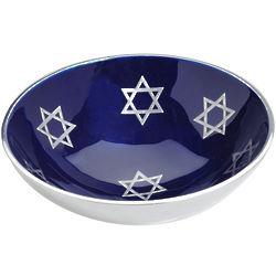 """7"""" Round Aluminum Jewish Star Bowl"""