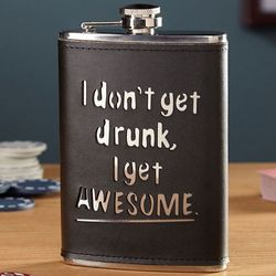 I Get Awesome Hip Flask