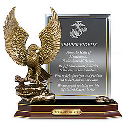 USMC Personalized Eagle Tribute Sculpture