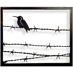 Bird on a Wire Wall Sculpture