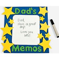 """Dad's Memos"" Magnet Dry Erase Board Craft Kit"