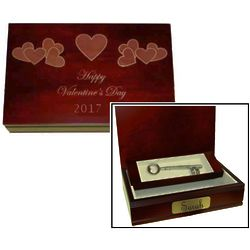 Valentine's Day 2016 Engraved Keepsake Box