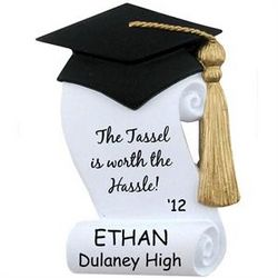 """The Tassel Is Worth the Hassle!"" Graduation Ornament"