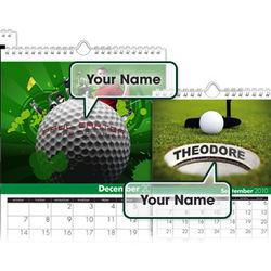 Personalized Golf Calendar