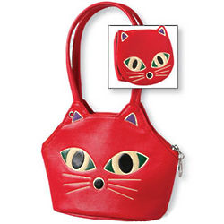 Cat Handbag and Change Purse Set