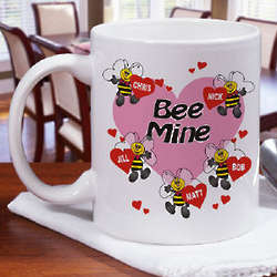 Bee Mine Hearts Coffee Mug