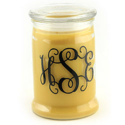 Honeysuckle Vine Personalized Candle