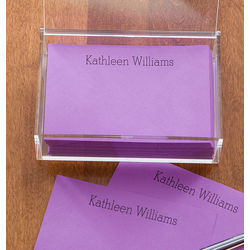 Personalized You Name It Purple Notepads and Caddy