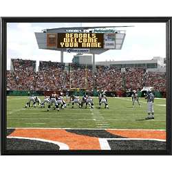 Personalized Cincinnati Bengals Scoreboard 11x14 Canvas