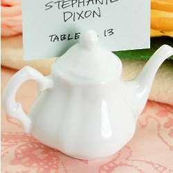 Victorian Porcelain Teapot Place Card Holders