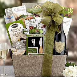 The Toast Featuring Dom Perignon Champagne Gift Basket