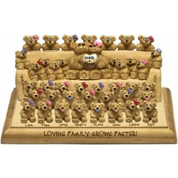 Grandparents and Family Bears Personalized Figurine