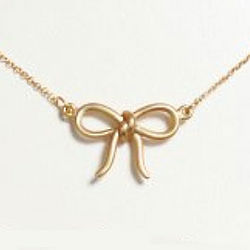 18 Karat Gold Plated Bow Necklace