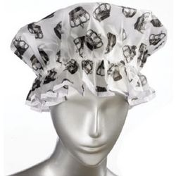 Royal Crown Retro Shower Cap