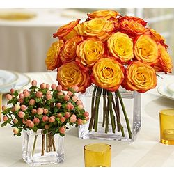 Golden Sunset Two Centerpieces
