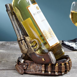Twin Pistols Wine Bottle Holder