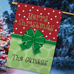Personalized Merry Christmas House Flag