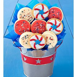 Americana Cookies Flower Pot