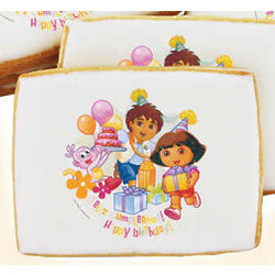 Dora the Explorer Feliz Cumpleanos Cookies