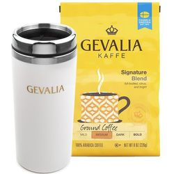Gevalia Signature Ground Coffee and Travel Mug Bundle