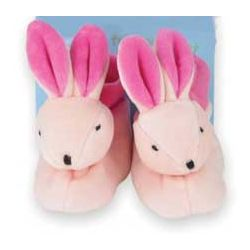 Rich Frog Velour Bunny Baby Booties