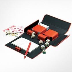 Orange Eco-Leather Bridge/Poker Playing Cards Case