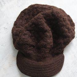 Alpaca Wool Chocolate Cap