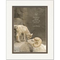 Dad Poem Personalized Ram and Lamb Print