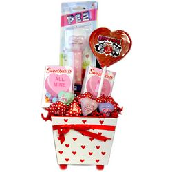 Wooden Valentine Planter Candy Assortment