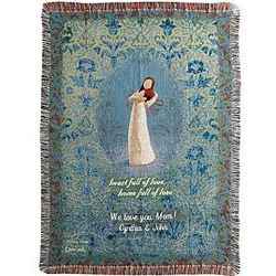 Personalized Heart Full of Love Tapestry Throw