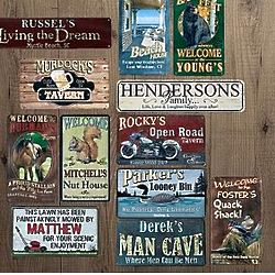 Personalized Rustic Metal Signs