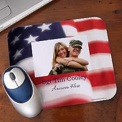American Flag Personalized Photo Mouse Pad