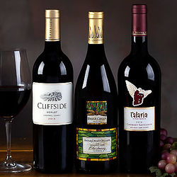 Cabernet, Chardonnay and Sangiovese Wine Trio