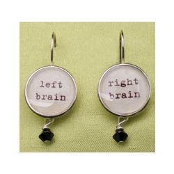 Right Brain, Left Brain Earrings
