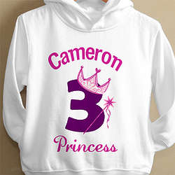 Personalized Birthday Princess Toddler Sweatshirt