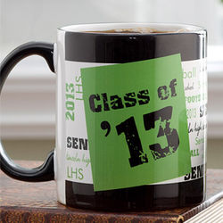 School Spirit Personalized Graduation Mug with Black Handle