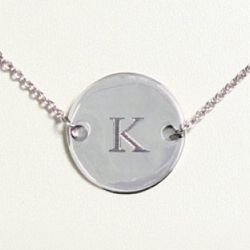 Personalized Medallion Necklace for Bridesmaid or Friend